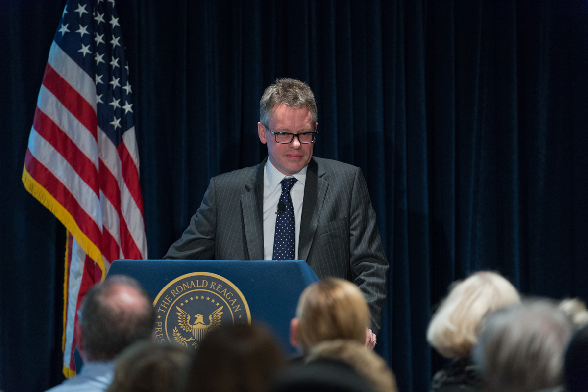 Dermot Turing presents at the Reagan Library