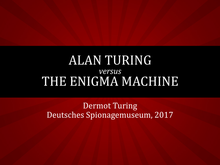 Alan Turing vs the Enigma Machine