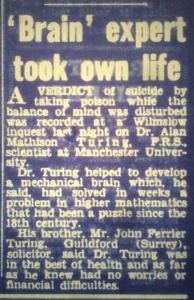 'Brain' expert took own life. Manchester Evening Chronicle, June 11th 1954