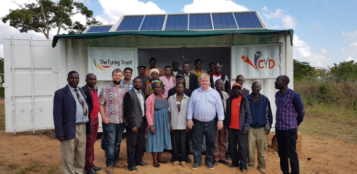 Handover of the SolarBerry to the community at Choma, Malawi