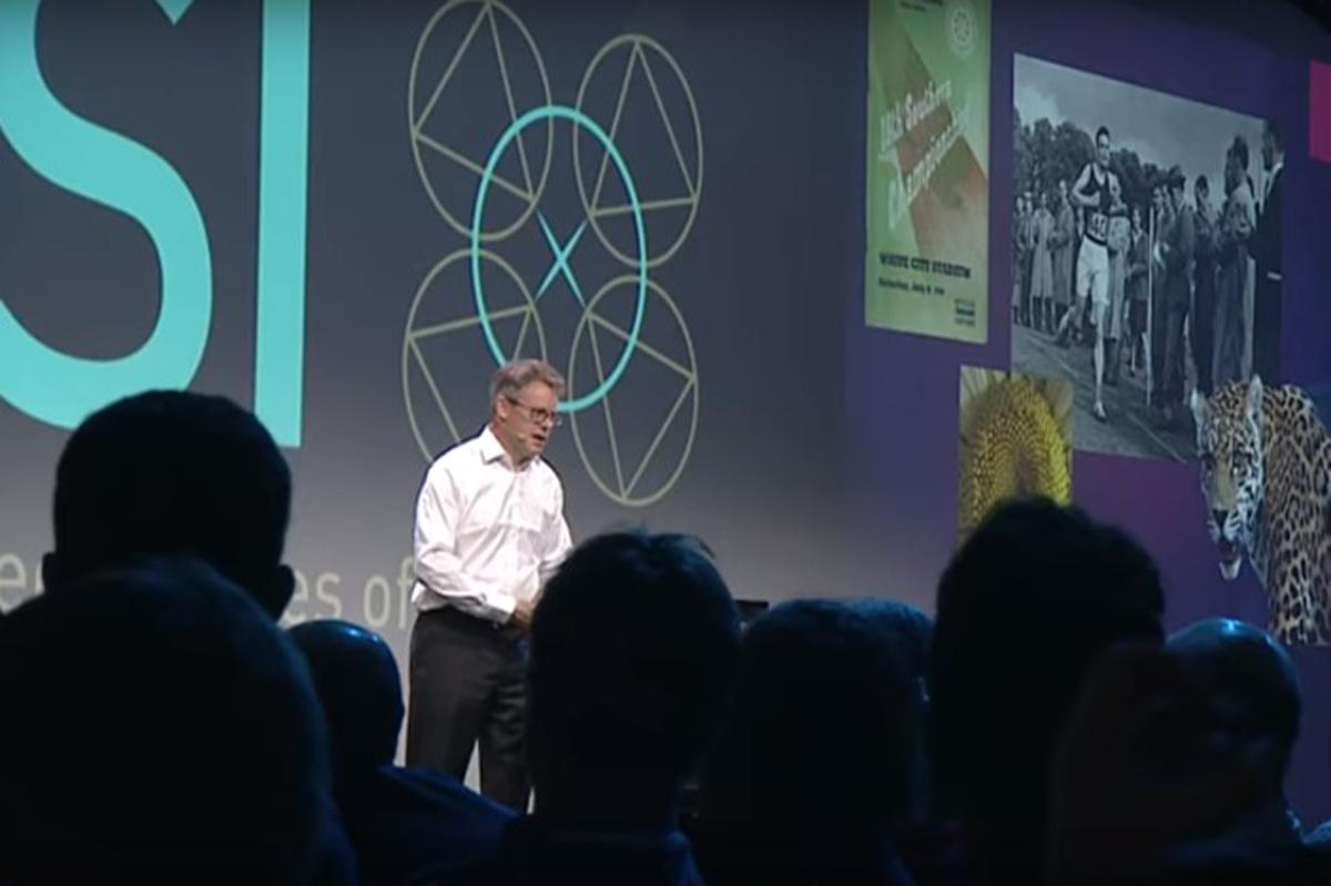 Dermot Turing speaking at USI, June 2018
