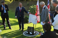 Unveiling the memorial stone in honour of Henryk Zygalski