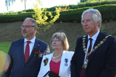 His excellency Dr Arkady Rzegocki, Polish Ambassador; Mrs anna Zygalska-Cannon; Mr Martyn Bell, Mayor of Chichester.