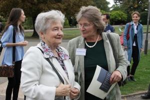 Mrs Janina Sylwestrzak with Mrs Anna Zygalska-Cannon at Bletchley Park