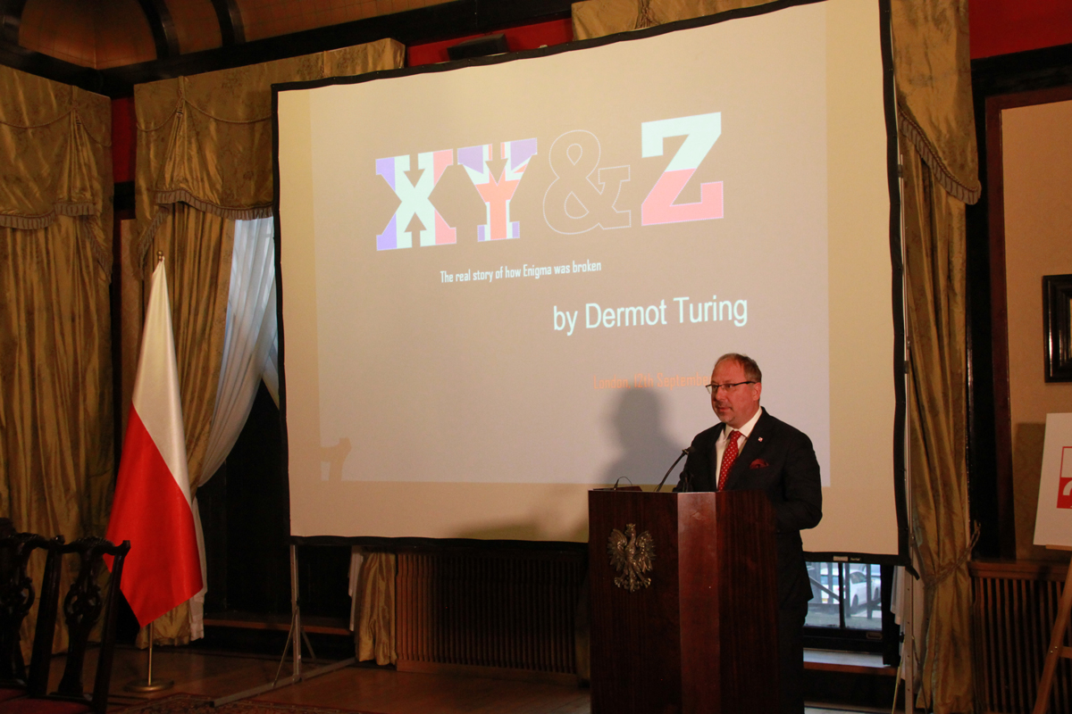 Dr Arkady Rzegocki at the laucnh of X, Y and Z