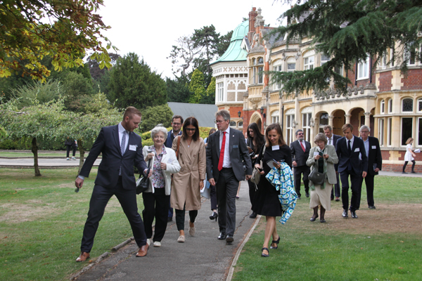 Guests on a tour of Bletchley Park