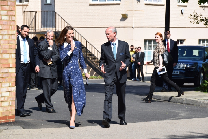 HRH the Duchess of Cambridge at Bletchley Park to open the new D-Day exhibition