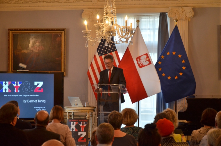 Dermot Turing speaking at the Embassy of the Republic of Poland, Washington DC