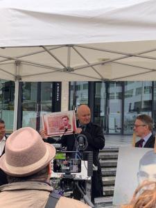 Christophe Girard, deputy Mayor of Paris at the dedication ceremony of the Pavis Alan Turing
