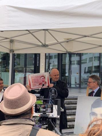 Christophe Girard, deputy Mayor of Paris at the dedication ceremony of the Pavis Alan Turing