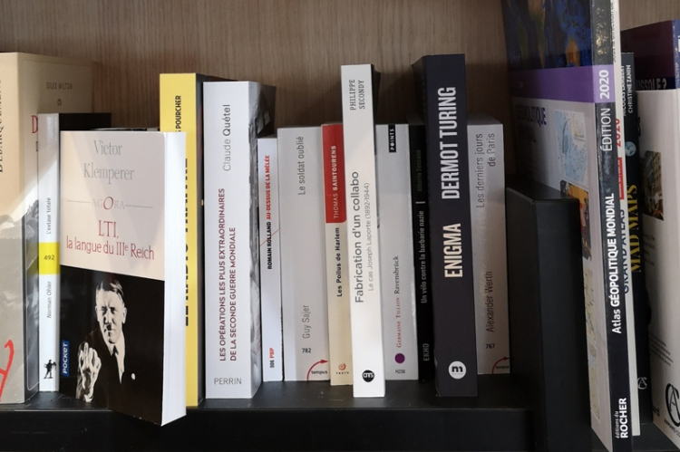 Enigma on the shelves in a Blois bookshop