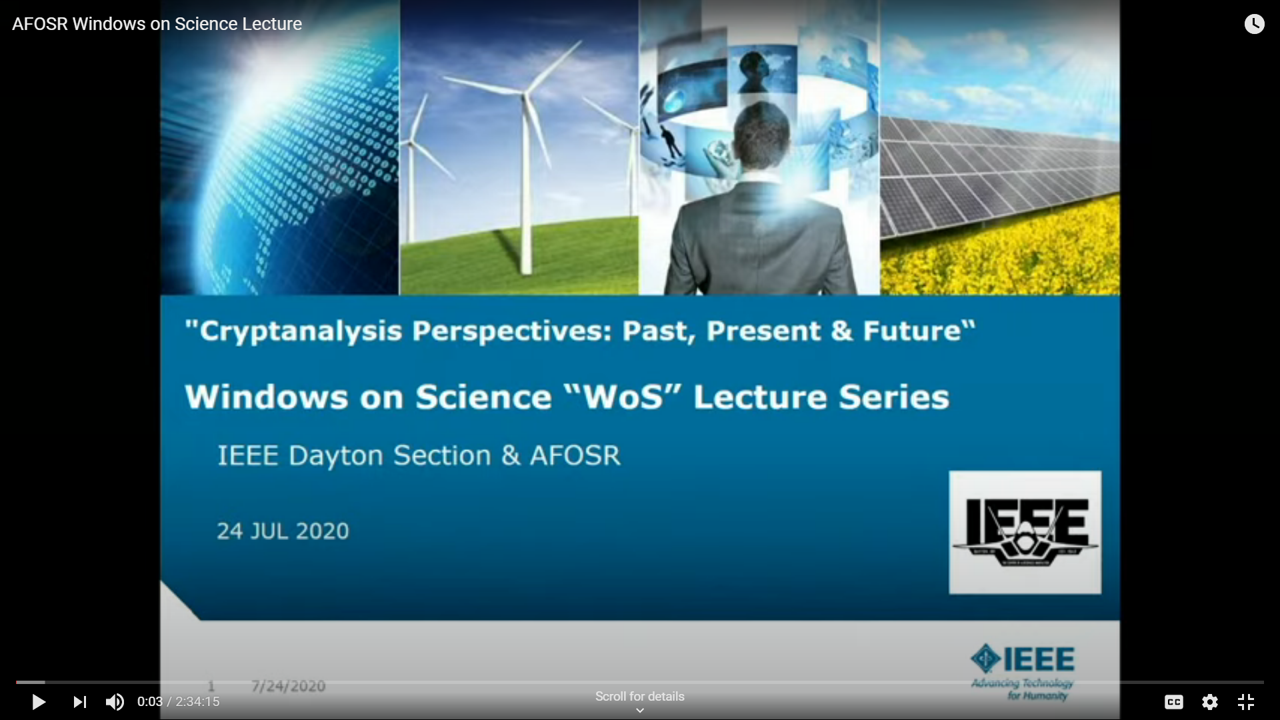 Dayton Section IEEE & AFOSR Windows on Science Lecture Series