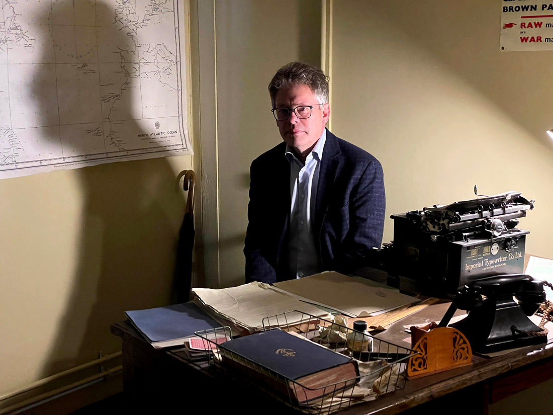 Dermot Turing at Bletchley Park. Photo by KT Bruce
