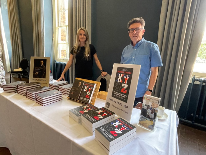The History Press display of Dermot Turing's books